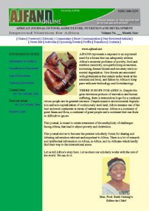 African Journal of Food Agriculture Nutrition and Development
