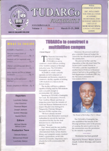 TUDARCo Newsletter Volume 1 Issue 2 11 March 2008